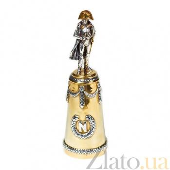 Серебряная рюмка с позолотой Наполеон Бонапарт 573/к