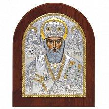 Икона Николай Чудотворец с инкрустацией камнями, 19х16см