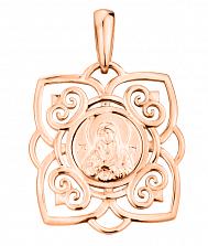 Ладанка в красном золоте Хранительница с узорами
