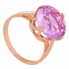 Золотое кольцо Принцесса с аметистом