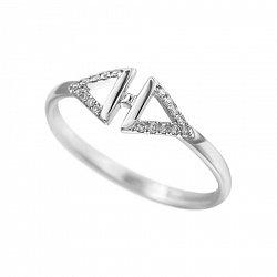 Кольцо из белого золота Ксена с бриллиантами