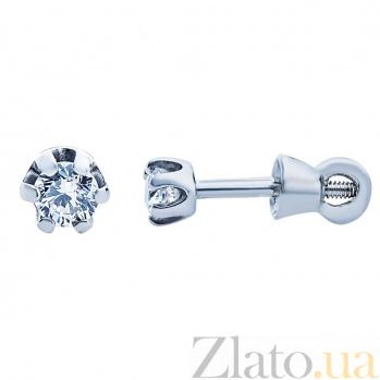Серебряные сережки с цирконием Татия AQA--Тпс-520262