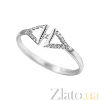 Кольцо из белого золота Ксена с бриллиантами 000080954