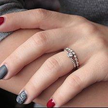 Серебряное кольцо Аганэ с цирконием