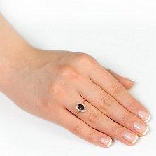 Золотое кольцо Фаина с раухтопазом и фианитами
