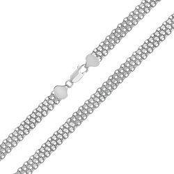 Серебряная цепь Калькутта с родием, 6 мм 000027753