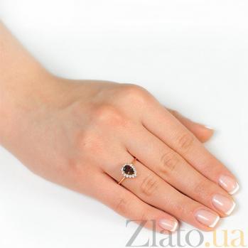 Золотое кольцо Фаина с раухтопазом и фианитами EDM--КД4033РАУХТОПАЗ
