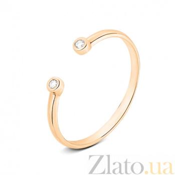 Золотое кольцо с открытой шинкой Аврора SVA--110122810101