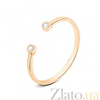 Золотое кольцо с открытой шинкой Аврора SVA--1101228101/Фианит/Цирконий