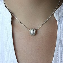 Серебряный кулон-шарм  Амели с цирконием