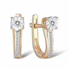 Серьги из золота с бриллиантами Эмилия
