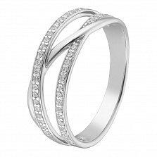 Золотое кольцо с фианитами Натаниэль