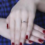 Золотое кольцо с сапфиром и бриллиантами Кристинэ