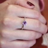 Серебряное кольцо Амритта с аметистом