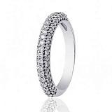 Кольцо из белого золота Бриллиантовая россыпь