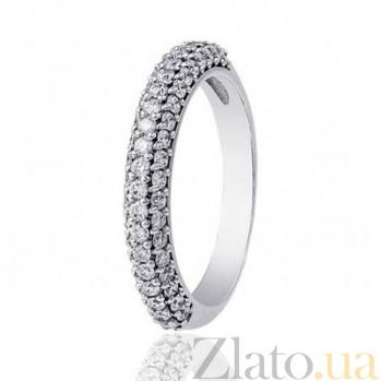 Кольцо из белого золота Бриллиантовая россыпь EDM--КД7422/1