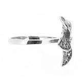 Серебряное кольцо с бриллиантами Плюмерия