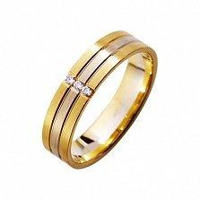 Золотое обручальное кольцо Камилла
