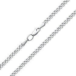 Серебряная цепочка в двойном якорном плетении, 3мм 000115204