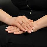 Золотое кольцо Офелия с аметистом и фианитами