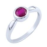 Серебряное кольцо Инджи с рубином