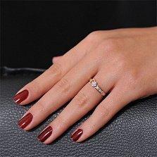 Золотое кольцо с бриллиантом Маргарет