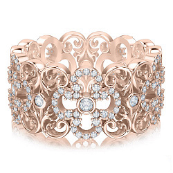 Кольцо из розового золота с бриллиантами Долина грез: Праздник Жизни 000010852