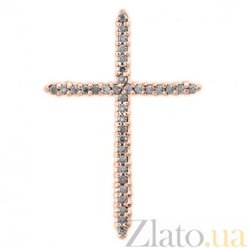Крест из красного золота с фианитами Внутренний свет 000023032