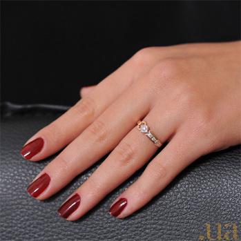 Золотое кольцо с бриллиантом Маргарет EDM--КД7412