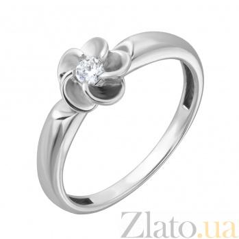 Кольцо из белого золота Флоренса с бриллиантом EDM--КД7522/1