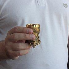 Набор бронзовых рюмок Лесная банда в виде диких животных в деревяной коробке, 25мл
