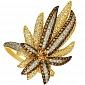 Кольцо из желтого золота Экзотика VLT--ТТ192-1