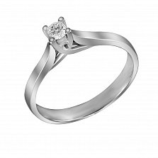 Кольцо из белого золота Романс с бриллиантом