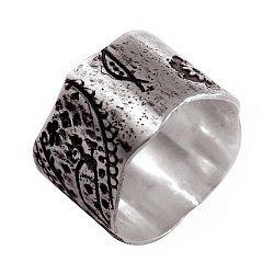 Кольцо из серебра Bandana с чернением 000091291