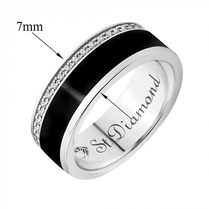 Золотое обручальное кольцо Черный ирис с бриллиантами 000020902