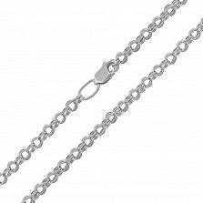 Серебряная цепь Вивальди в плетении бисмарк, 3,5 мм