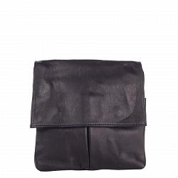 Кожаный клатч Genuine Leather 10017 синего цвета с застежкой-молнией и клапаном на магнитах 00009261