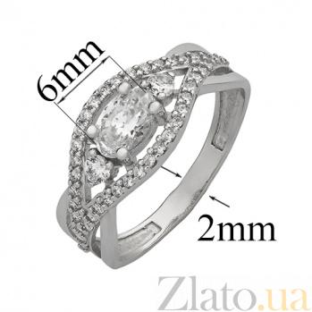 Серебряное кольцо с фианитами Леслав 2439.1