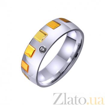 Обручальное кольцо из комбинированого золота Неповторимость TRF--4421438