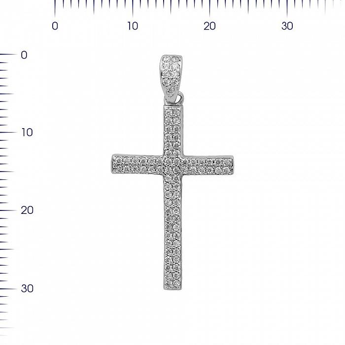 Серебряный крестик Симфония с фианитами 000081771