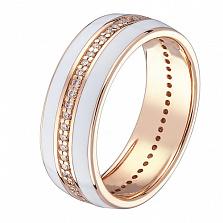 Кольцо в красном золоте Адвента с бриллиантами и эмалью