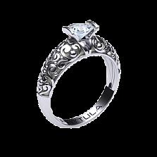 Золотое помолвочное кольцо День и ночь с бриллиантом