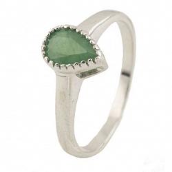 Серебряное кольцо Весняна с изумрудом
