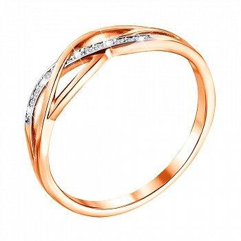 Кольцо в комбинированном цвете золота с бриллиантами 000124894