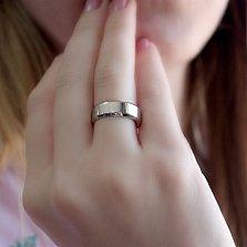 Серебряное обручальное кольцо Традиция