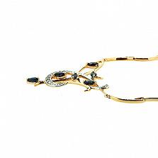 Золотое колье с сапфирами и бриллиантами Аэлита