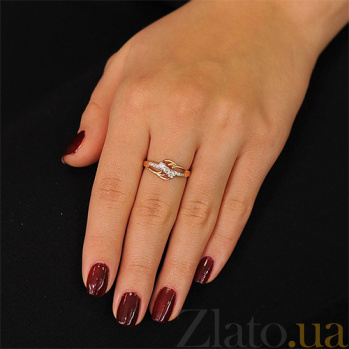 Золотое кольцо  с бриллиантами Блестящее впечатление EDM--КД7459