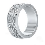Обручальное кольцо из белого золота с бриллиантами Благословение небес: Сияние души
