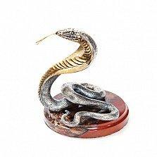 Серебряная статуэтка с позолотой Кобра
