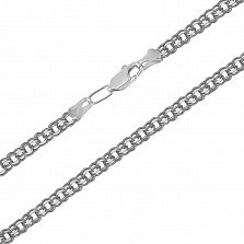 Серебряная цепь чернёная Гарибальди, 7мм